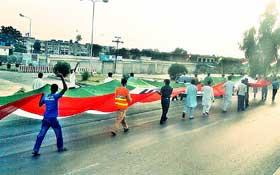 کامرہ: مصطفوی سٹوڈنٹس موومنٹ فلیگ واک