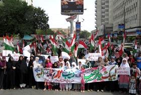 منہاج القرآن ویمن لیگ کراچی کے زیراہتمام سیدہ بی بی زینب رضی اللہ عنہ کے مزار پر حملہ کے خلاف احتجاجی مظاہرہ