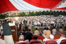 ایبٹ آباد: کرپٹ نظام انتخاب میں شاہ رُخ جتوئی اور شاہ زیب کبھی برابر نہیں ہو سکتے، ڈاکٹر حسن محی الدین قادری