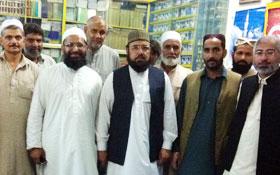 گجرات: الحاج حافظ نذیر احمد قادری کا تحریک منہاج القرآن کے دسٹرکٹ ہیڈ کوارٹر کا وزٹ