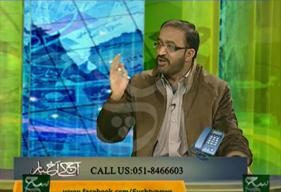 Umar Riaz Abbasi on Sach TV in program Aaj Ka Akbar