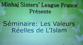 """France: Seminar held on """"True values of Islam"""""""