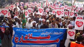 ڈیرہ غازی خان: منہاج القرآن یوتھ لیگ و مصطفوی سٹوڈنٹس موومنٹ کے زیراہتمام میلاد مارچ