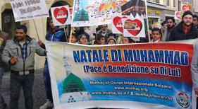 اٹلی: منہاج القرآن انٹرنیشنل بلزانو کے زیراہتمام میلاد مارچ