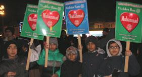 Mawlid-un-Nabi (saw) Peace Walk 2014 held in Denmark