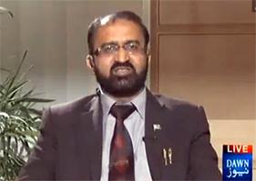 عمر ریاض عباسی ڈان نیوز پر مہر بخاری کے ساتھ