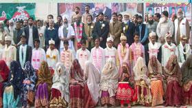 صفدر آباد: 15 جوڑوں کی شادیوں کی اجتماعی تقریب