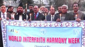 لاہور: ڈائریکٹر انٹرفیتھ ریلیشنز کا ورلڈ انٹرفیتھ ہارمنی ویک ریلی میں شرکت