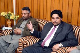 A delegation of South Asian Columnist Association meets Dr Hussain Mohi-ud-Din  Qadri