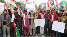 بجلی کی قیمتوں میں اضافے اور مہنگائی کے خلاف یوتھ لیگ کا احتجاجی مظاہرہ