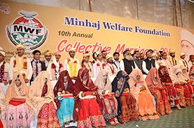 منہاج ویلفیئر فاؤنڈیشن کے تحت شادیوں کی اجتماعی تقریب میں 23 جوڑے شادی کے مقدس رشتہ میں بندھ گئے