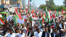 ڈیرہ غازی خان: پاکستان عوامی تحریک کے زیراہتمام مہنگائی، کرپشن اور دہشت گردی کے خلاف احتجاجی ریلی