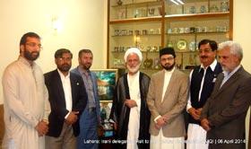 لاہور: رہبر معظم اسلامی جمہوریہ ایران کے نمائندہ خصوصی و چیئرمین تقریب المذاہب الاسلامی کی ڈاکٹر حسن محی الدین قادری سے ملاقات