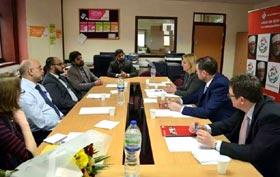 برطانوی وزیر ممبر پارلیمنٹ جسٹین گریننگ کی منہاج ویلفیئر فاؤنڈیشن کے وفد سے ملاقات