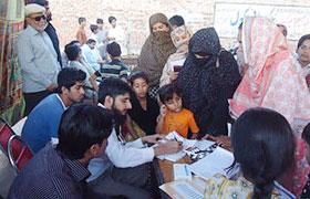 ملتان، پاکستان عوامی تحریک کے زیراہتمام سمیجہ آباد میں فری میڈیکل کیمپ