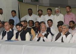 PAT, MQM, PTI, PML, SIC, PPP & MWM issue joint declaration