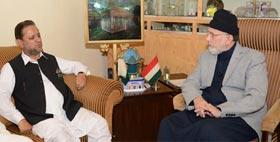 Former AJ&K Prime Minister calls on Dr Tahir-ul-Qadri, supports his agenda