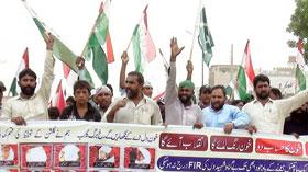 گڑھا موڑ (وہاڑی): سانحہ ماڈل ٹاؤن کی ایف آئی آر درج نہ ہونے پر پاکستان عوامی تحریک کا احتجاجی مظاہرہ