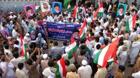 سرگودھا: سانحہ ماڈل ٹاؤن کی ایف آئی آر درج نہ ہونے پر پاکستان عوامی تحریک کا احتجاجی مظاہرہ