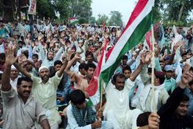 جھنگ: سانحہ ماڈل ٹاؤن کی ایف آئی آر درج نہ ہونے پر پاکستان عوامی تحریک کا احتجاجی مظاہرہ