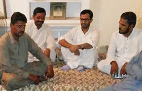 گڑھ موڑ، ڈاکٹر زبیر اے خان کی انجمن طلبہ اسلام کے عہدیداران سے ملاقات