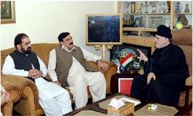 ڈاکٹر طاہرالقادری سے شیخ رشید کی ملاقات، ملکی صورتحال و آرٹیکل 245 پر تبادلہ خیال