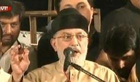 Dr Tahir-ul-Qadri addresses Inqilab Marchers at D-Chowk in Islamabad - 21st Sep 2014