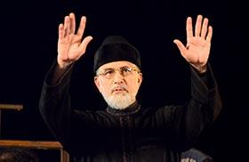 Dr Tahir-ul-Qadri addresses Inqilab Marchers at D-Chowk in Islamabad - 28th Sep 2014