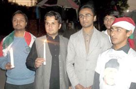 ایم ایس ایم کی لاہور پریس کلب کے باہر عیسائی برادری کی جانب سے دعائیہ تقریب میں شرکت