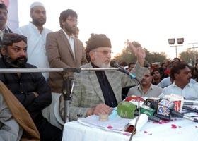 Dr Tahir ul Qadri addresses PAT Jalsa e Aam 'Inqilab in Bhakkar' - 23rd Nov 2014