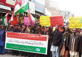 مانسہرہ: پاکستان عوامی تحریک کی شہدائے پشاور کے ساتھ اظہار یکجہتی اور دہشت گردی کیخلاف ریلی