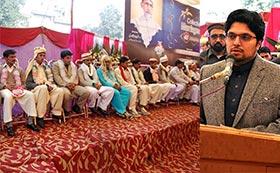 فیصل آباد: منہاج ویلفیئر فاؤنڈیشن کے تحت شادیوں کی اجتماعی تقریب میں 40 جوڑے شادی کے مقدس رشتہ میں بندھ گئے