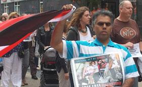 آئرلینڈ: اسرائیلی بربریت کے خلاف احتجاجی مظاہرہ