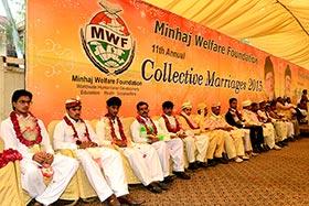منہاج ویلفیئر فاؤنڈیشن کے تحت شادیوں کی اجتماعی تقریب، 23 مسلم و غیر مسلم جوڑے رشتہ ازدواج میں منسلک