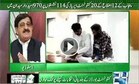 Khurram Nawaz Gandapur live on channal 24 (about Election and Govt)