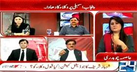Khurram Nawaz Gandapur in News Point on Channel 24 (Saniha Model Town say Saniha Daska tak)