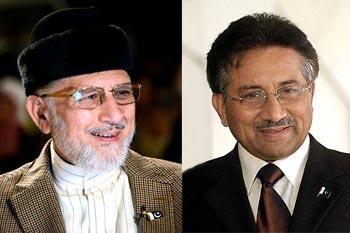 پرویز مشرف کا ڈاکٹر طاہرالقادری کو فون، خیریت دریافت کی