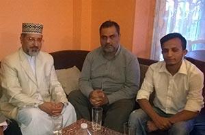 فرانس: پروفیسر علامہ حسن میر قادری کا شیخ زاہد فیاض سے ان کی خالہ کی وفات پر اظہار تعزیت