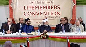 نیدرلینڈز: شیخ الاسلام کا دورہ نیدرلینڈز، منہاج القرآن انٹرنیشنل کے لائف ممبر کنونشن سے خطاب