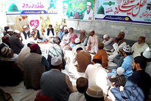 کوئٹہ: محفل ذکرو نعت بسلسلہ شہادت حضرت امام حسین علیہ السلام
