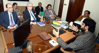 US Consul General & Political Officer visit central secretariat, meet MQI leaders