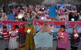 اسلام آباد: منہاج القرآن ویمن لیگ کے زیراہتمام استقبال ربیع الاول کینڈل واک کا انعقاد