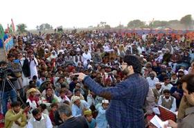 ڈاکٹر حسن قادری کا این اے 154 کا دورہ، انتخابی جلسوں سے خطابات