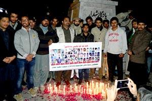 چکوال: شہداء پشاور کی یاد میں مصطفوی سٹوڈنٹس موومنٹ کی ریلی