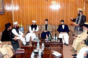 لاہور: شیخ الاسلام کی منہاج القرآن علماء کونسل کے عہدیداران اور دورہ حدیث کے طلبہ سے ملاقات