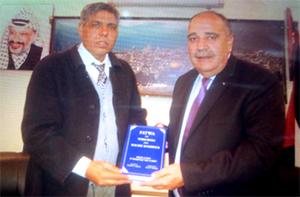 عوامی تحریک کے ڈپٹی چیف آرگنائزر کی فلسطین کے سفیر ولید ابوعلی سے ملاقات