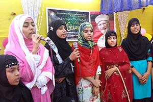 انڈیا: منہاج القرآن ویمن لیگ مغربی بنگال کی محفل میلاد النبی (ص)
