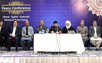 پیرس: عالم میں امن کے لیے بھائی چارے کا فروغ اشد ضروری ہے۔ ڈاکٹر حسن محی الدین کا امن کانفرنس سے خطاب