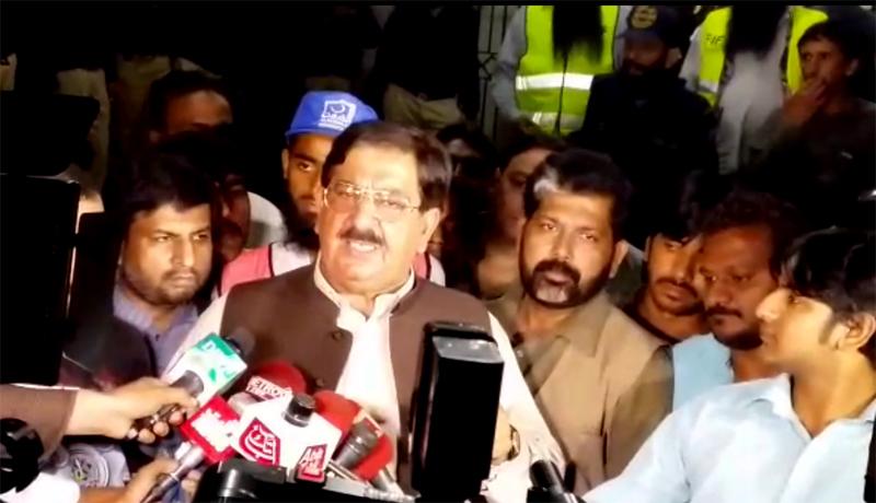خرم نواز گنڈاپور کی جناح ہسپتال میں زخمیوں کی عیادت کے بعد میڈیا سے گفتگو
