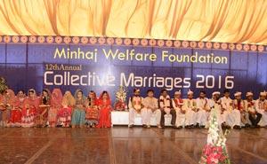 منہاج ویلفیئر کے زیراہتمام شادیوں کی اجتماعی تقریب، 25 جوڑے رشتہ ازدواج میں منسلک